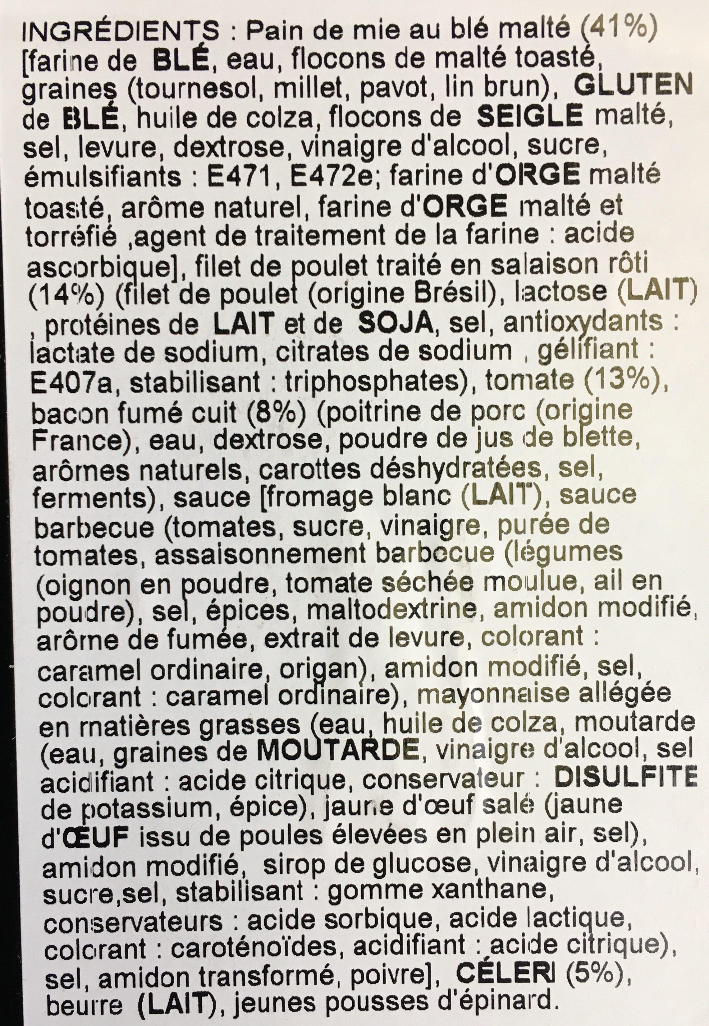 Sandwich Club Anglais - Ingredients