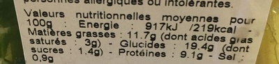 salade Caesar - Informations nutritionnelles - fr