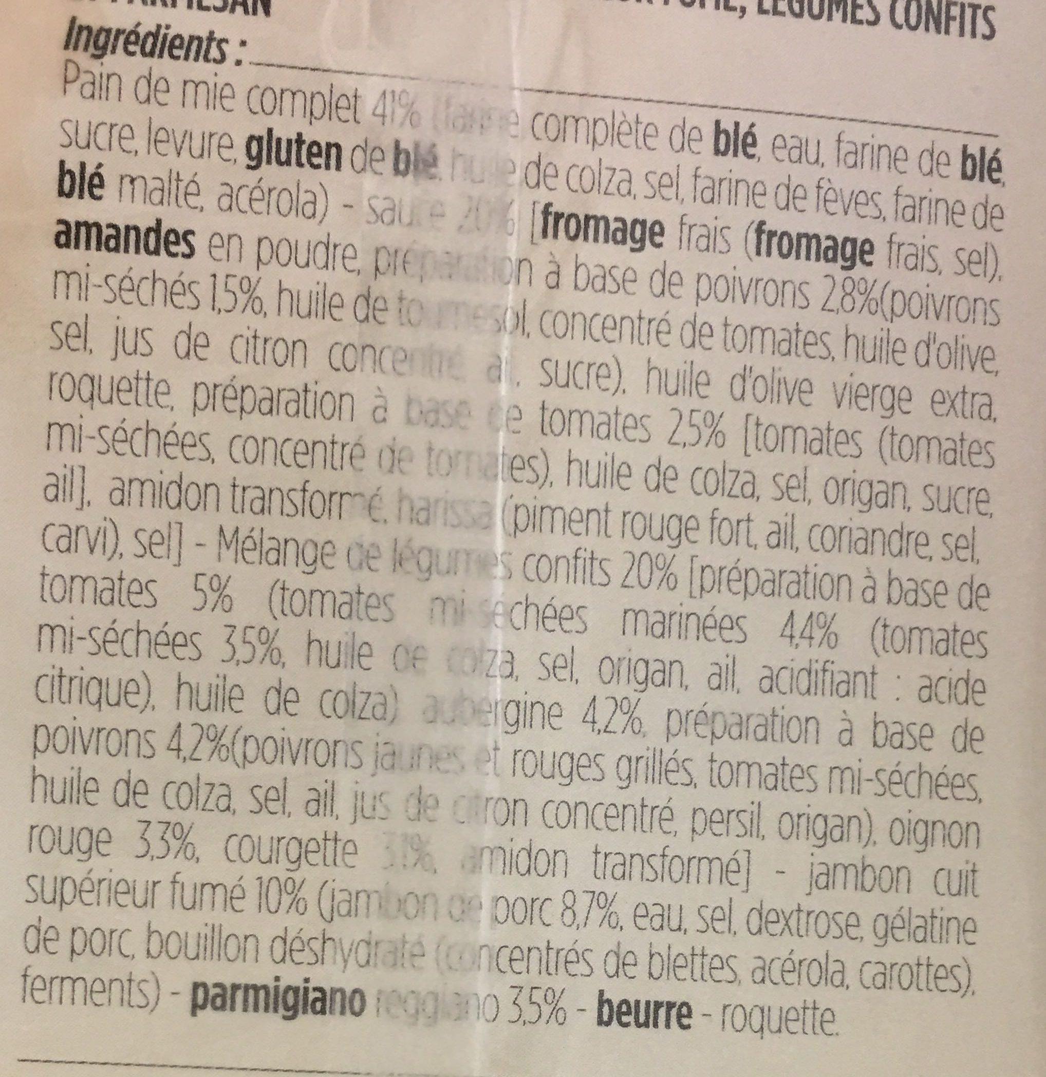 Sandwich Jambon fumé Parmesan - Ingredients