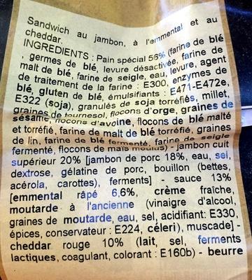 Croque monsieur - Ingrediënten - fr