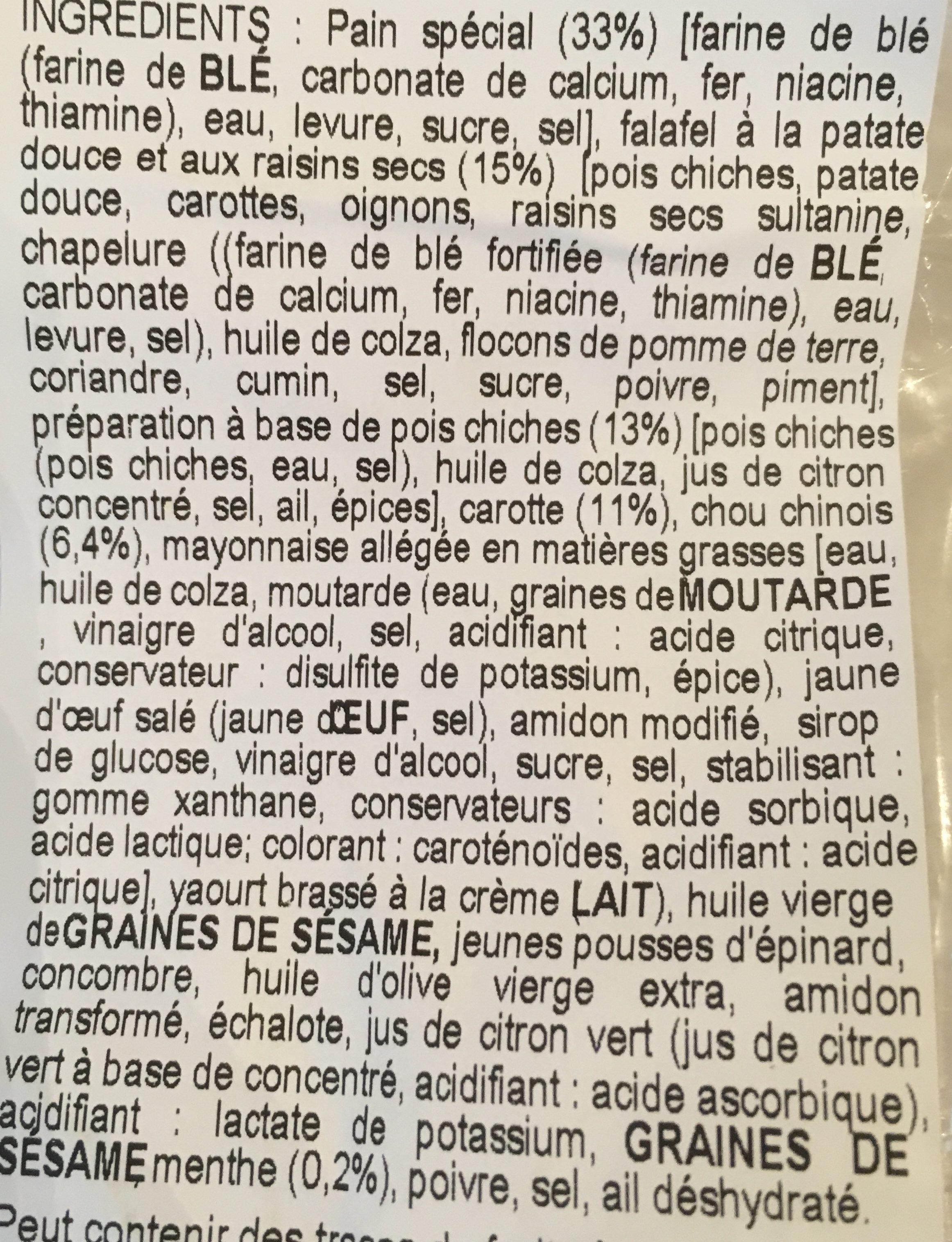 Wraps falafel & menthe - Ingrédients - fr