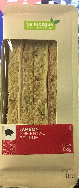 Sandwich au jambon cuit superieur, emmental et beurre - Product