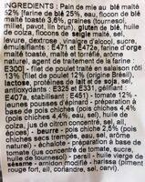 Poulet & Houmous tomate club - Ingrédients - fr