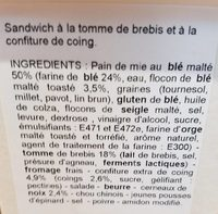 Chèvre Butternut Oignons confits - Ingrédients - fr