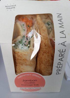 Galette jambon crudité fromage frais - Product - fr