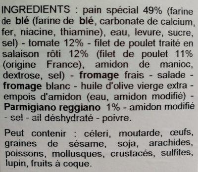 Wrap poulet parmesan et poulet - Ingrediënten - fr