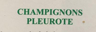 Champignons Pleurote - Ingrédients