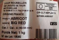 Abricots - Ingrediënten - fr