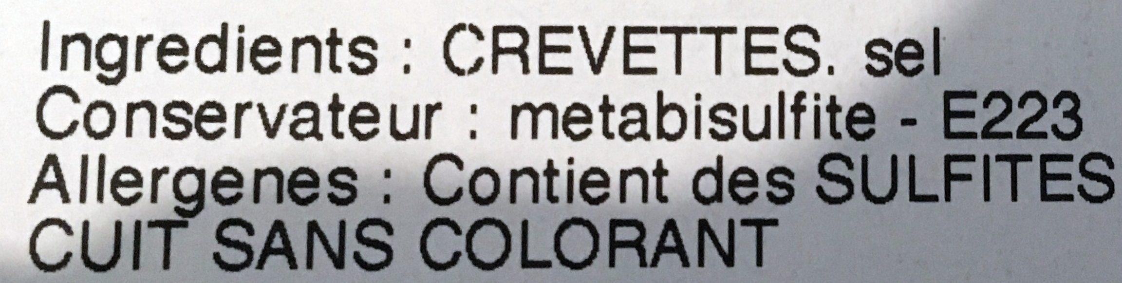 Crevettes Roses - Ingrediënten - fr