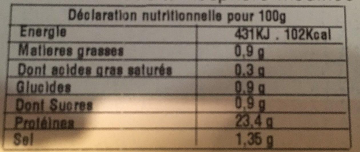 Crevettes Roses - Voedingswaarden - fr