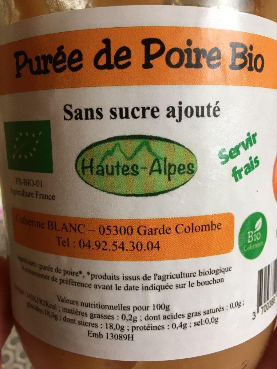 Puree de poire bio - Product - fr