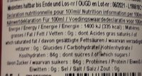 Sirop Courbe Arôme Fraise Bonbon - 35 CL - Arom - Nutrition facts - fr