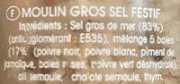 Moulin long au Sel mélange Festif - Składniki - fr