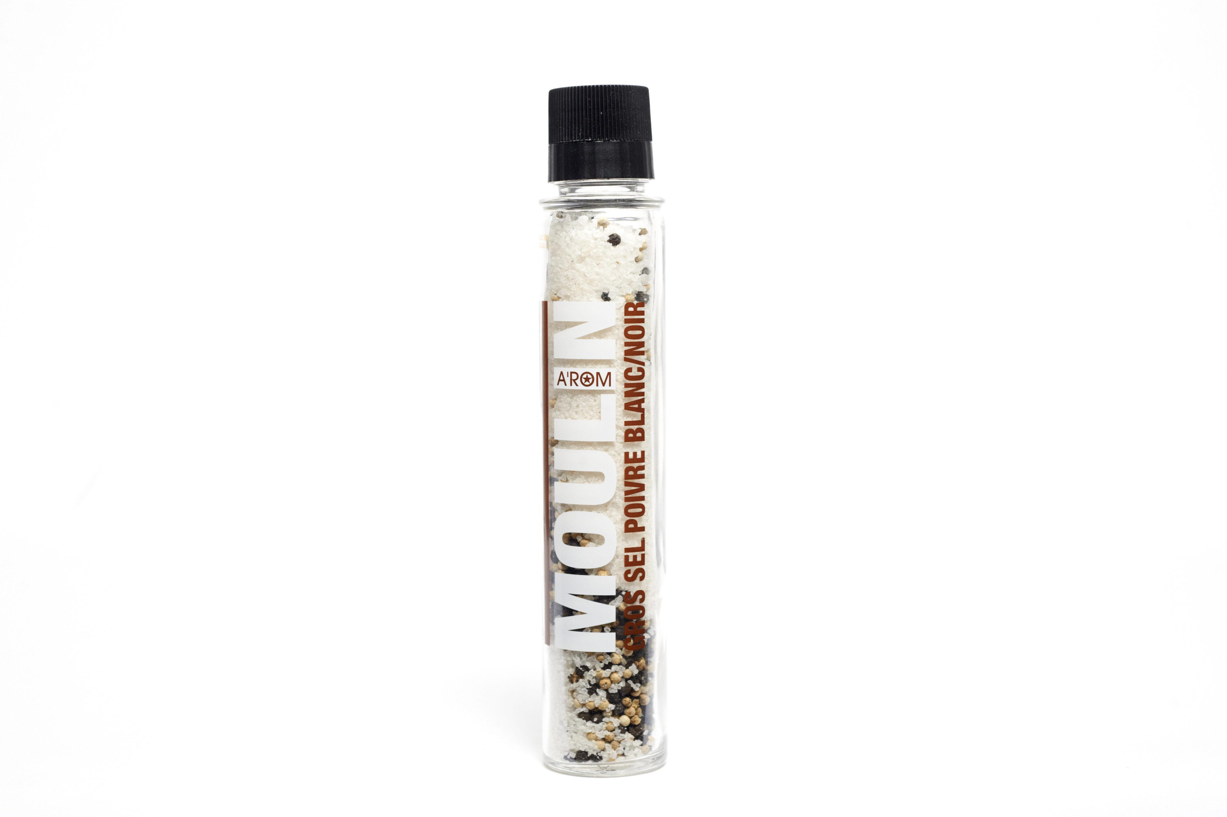 Moulin long Gros sel et poivre blanc et noir - Produkt - fr