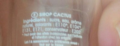 Sirop mini goût Cactus - Ingrédients - fr