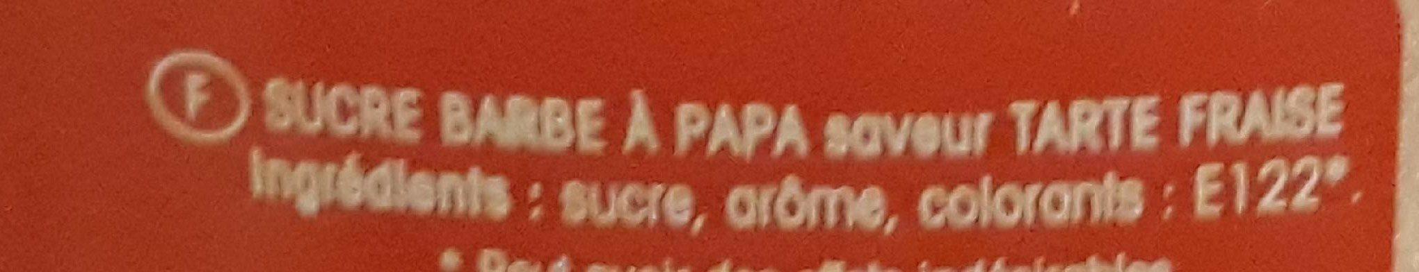 Barbe a papa - Ingrédients - fr