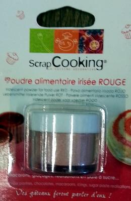Poudre Alimentaire Irisée Rouge - Produit - fr