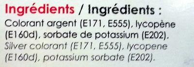 Poudre Alimentaire Irisée Rouge - Ingrédients - fr