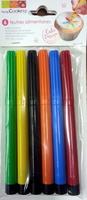 Feutres alimentaires (rouge, orange, jaune, vert, bleu, noir) - Product - fr