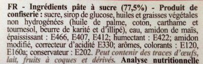 Pâte à Sucre Arôme Vanille 250 G Rouge - Scrapcooking - Ingredients