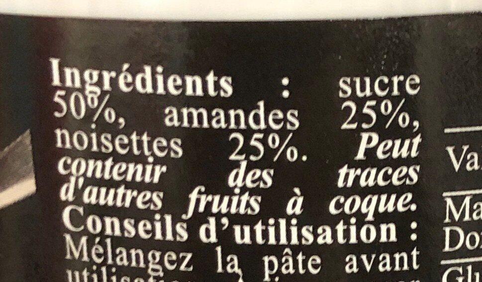 Pâte de praliné - Ingrédients - fr