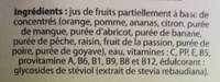 Nectar Multifruits Stevia - Ingrédients
