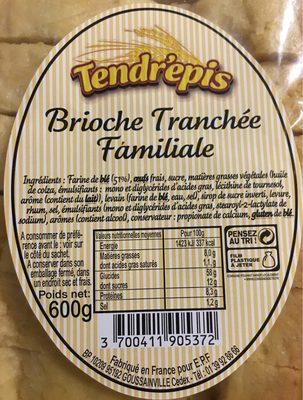 Brioche Tranchée Familiale - Product - fr