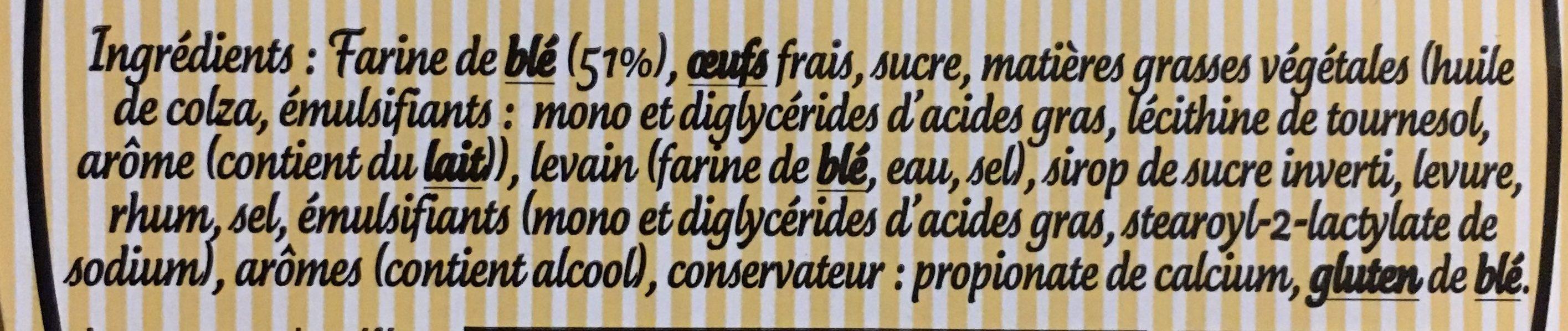 Brioche Tranchée Familiale - Ingrediënten - fr