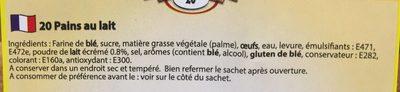Pain au Lait - Ingrédients - fr