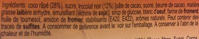 Rochers Chocolat - Ingredients