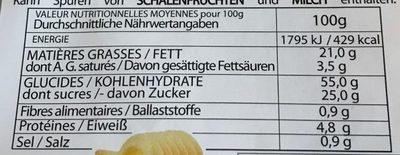 8 Étoiles au Beurre - Informations nutritionnelles