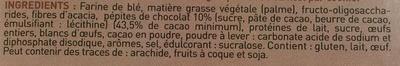 Le cookie diététique aux pépites de chocolat - Ingrediënten - fr