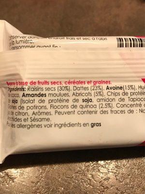 Barre gourmande Abricot Quinoa - Ingrediënten