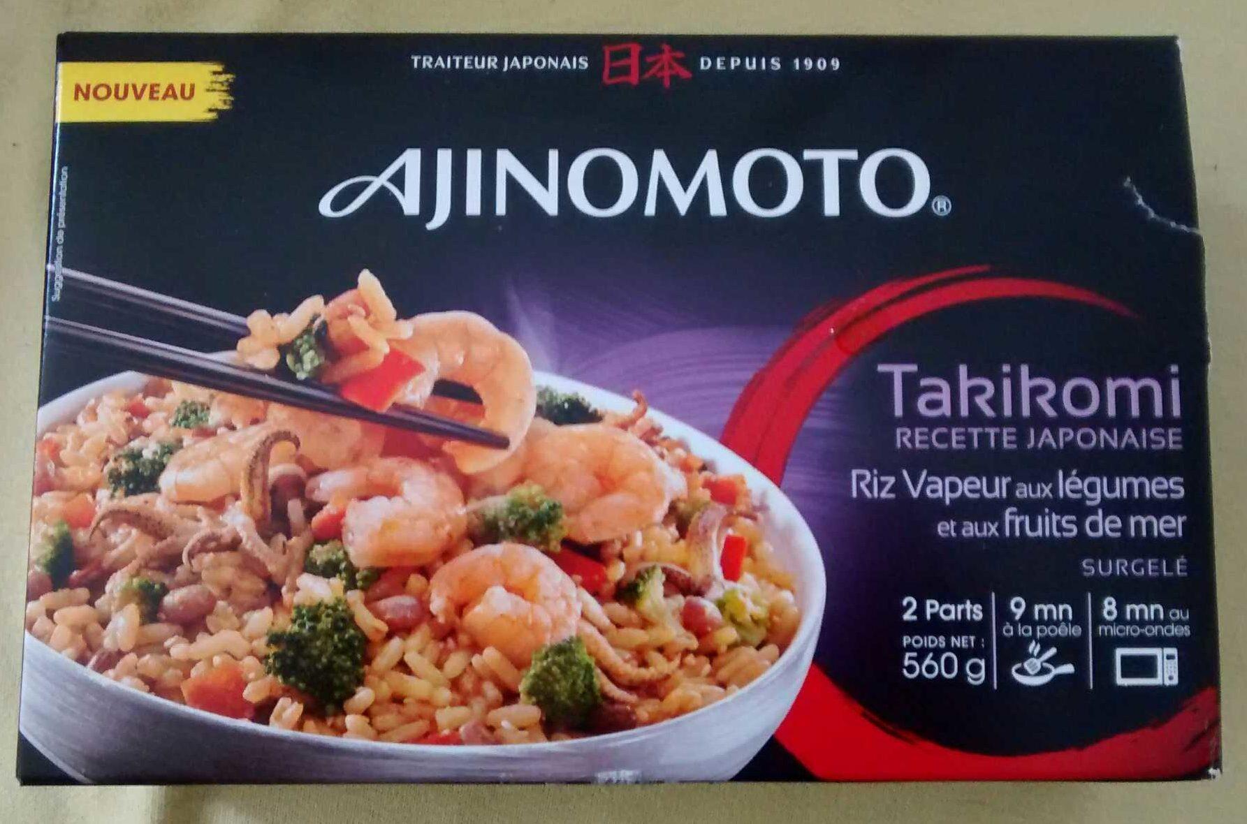 Takikomi recette japonaise riz vapeur aux légumes et aux fruits de mer - Produit - fr
