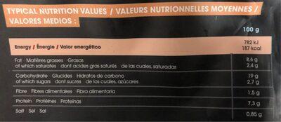 Gyoza de pollo y verduras - Nutrition facts - fr