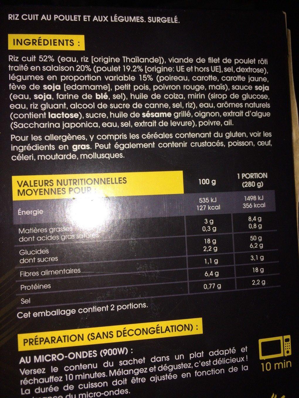 Teppanyaki - Nutrition facts - fr