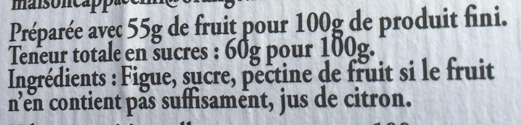 Confiture figue - Ingrediënten - fr