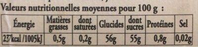 Confiture figue - Voedingswaarden - fr