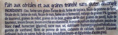 Pain aux céréales sans gluten - Ingrédients