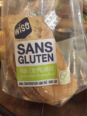 Pain campagnard sans gluten décongelé - Produit - fr