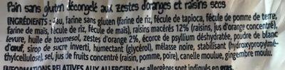Pain aux fruits décongelé - Ingrédients