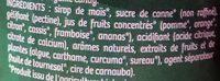 Sbulinours goûts fruités - Ingrédients - fr