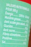 Sbulinours goûts fruités - Informations nutritionnelles - fr