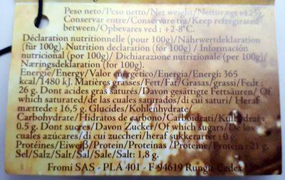 Grès d'Alsace affiné au Crémant d'Alsace - Informations nutritionnelles - fr