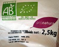 Pomme de terre bio Spécial Gratin - Vapeur - Rissolé - Ingredients