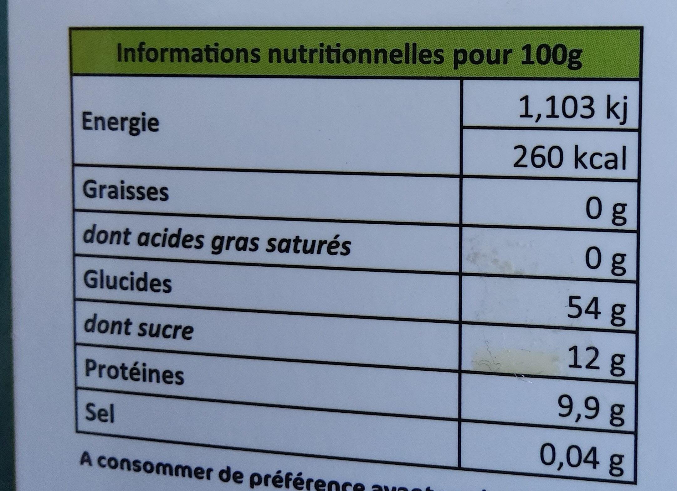 Ail noir - Valori nutrizionali - fr