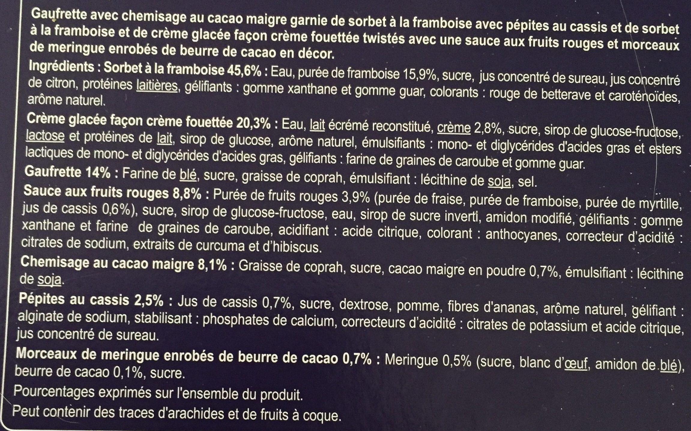 Cone framboise - Ingrédients - fr