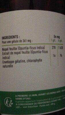 Nopal - Informazioni nutrizionali - fr