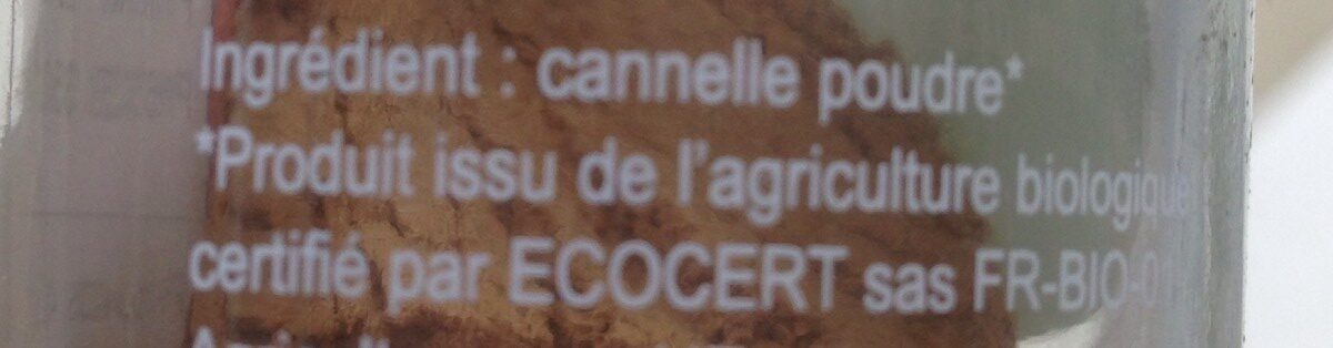 Cannelle poudre - Ingredients