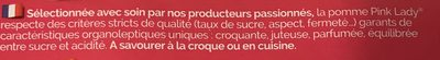 PINK LADY® POMMES BARQ 6 PIECES - Ingrédients - fr